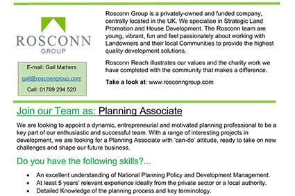 News - Planning Associate Opportunity