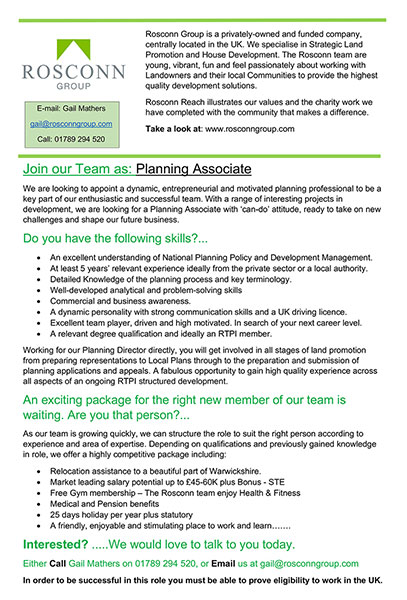 Planning Associate Opportunity - Image 2